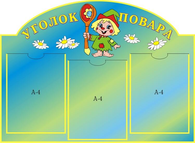 Детского сада уголок повара dou shkola ru